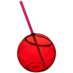 FIESTA BALL AND STRAW in Red