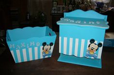 Decoupage Box, Ideas Para, Toy Chest, Storage Chest, Safari, Baby Shower, Country, Diy, Furniture