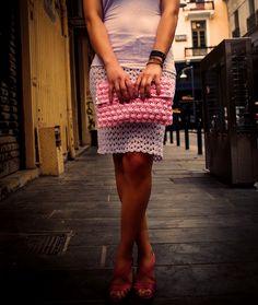 "Carnation"" Clutch Bag. #ververifashion.com Handmade Clutch, Carnations, Clutch Bag, Clutches, Sequin Skirt, Sequins, Skirts, Bags, Fashion"