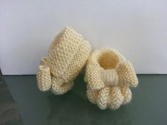 Classic Baby Booties - Hand Knit
