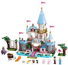 New Lego Cinderella Castle Romantic Castle Disney Princess Kids Toys Blocks Set Lego Disney Princess, Lego Princesse Disney, Cinderella Princess, Princess Castle, Princess Girl, Lego Friends, Toys For Girls, Kids Toys, Bricks