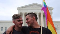 """June 26th 2015 [USA] The US Supreme Court has ruled that same-sex marriage is a legal right across the United States.  It means the 14 states with bans on same-sex marriage will no longer be able to enforce them.  Justice Anthony Kennedy wrote that the plaintiffs asked """"for equal dignity in the eyes of the law. The Constitution grants them that right."""""""