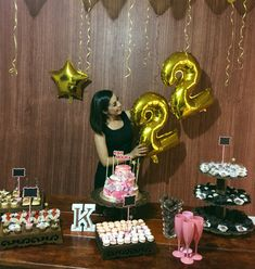 Happy 20th Birthday, Ideas Para Fiestas, Birthday Cake, Deco, Desserts, 22nd Birthday, Ideas Aniversario, Pie Wedding Cake, Theme Parties
