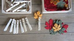 leaf letter match with clothes pins