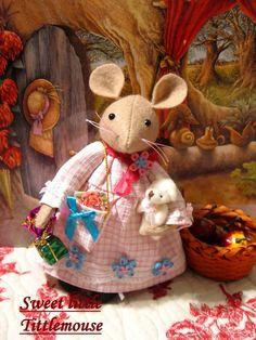 TITTLEMOUSE by DollsandBunnies on Etsy.  LOVELY yarn and fabric craft dolls.
