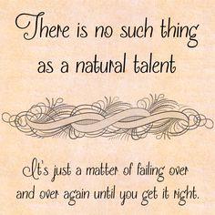 #quote  #frase #talent #failing http://palavrasaleatorias.blogspot.com.br/