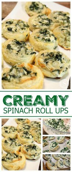 Spinach Roll Ups Recipe! Super Bowl Appetizer Recipe for a Bite Sized Mini Snack!Creamy Spinach Roll Ups Recipe! Super Bowl Appetizer Recipe for a Bite Sized Mini Snack! Spinach Bites Recipe, Creamy Spinach Roll Ups Recipe, Spinach Rolls, Spinach Recipes, Spinach Ideas, Creamed Spinach, Spinach Dip, Chicken Recipes, Snacks Für Party