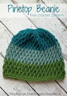 Pinetop Beanie Crochet Pattern - The Pinetop Beanie Crochet Pattern uses one of my favorite stitches. the Overlapping Post Stitch. It's creates an amazing texture for this beanie. häkelschal Pinetop Beanie Crochet Pattern (Crochet Along for a Cause) Crochet Beanie Pattern, Knit Or Crochet, Crochet Crafts, Easy Crochet, Crochet Stitches, Crochet Projects, Free Crochet, Crochet Pikachu, Sombrero A Crochet