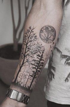 Resultado de imagem para forearm tattoos for men trees