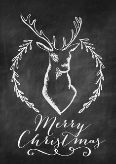 7 Best Images of Free Printable Chalkboard Prints Christmas - Free Christmas Chalkboard Printables, Free Christmas Chalkboard Printables and Free Printable Christmas Chalkboard Art Christmas Deer, Winter Christmas, Christmas Holidays, Christmas Crafts, Christmas Decorations, Happy Holidays, Cabin Christmas, Merry Christmas Sign, Merry Xmas