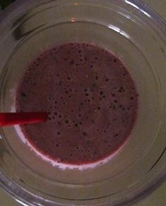 Blueberry and Strawberry Smoothie with Oatmeal