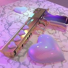 cute guns for women Knife Aesthetic, Boujee Aesthetic, Bad Girl Aesthetic, Purple Aesthetic, Aesthetic Pictures, Pastel Punk, Pastel Goth Fashion, Rauch Fotografie, Pretty Knives
