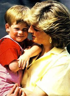 Diana, Princess of Wales with Prince Harry.