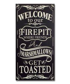 Look what I found on #zulily! Fire Pit Wall Sign by Melrose #zulilyfinds