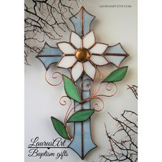 Baby blue cross Christening cross Baptism gift for by LaurusArt Stained Glass Designs, Stained Glass Projects, Stained Glass Patterns, Stained Glass Art, Stained Glass Windows, Cross Coloring Page, Cross Drawing, Crochet Lamp, Stain Glass Cross