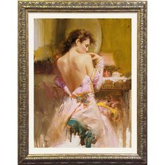 Ball Gown Framed Wall Art - this would add the perfect romantic touch to an ultra feminine room