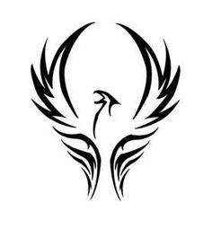 Phoenix Tattoo the mythical bird that rose from its ashes -- Would make an awesome necklace