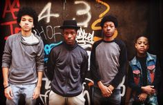 Skylan Brooks, Shameik Moore and Justice Smith in The Get Down (2016)