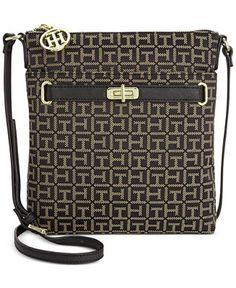 Tommy Hilfiger Helen Monogram Jacquard Crossbody - Crossbody & Messenger Bags - Handbags & Accessories - Macy's $78.00