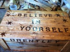 another style of chest I made for my grandsons for xmas added a saying to each that fir them all made from pallets