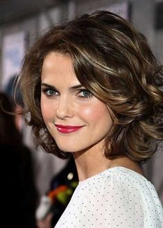 Keri Russell beautifully displays one of Twenty Cute Curly Hairstyles for Short Hair