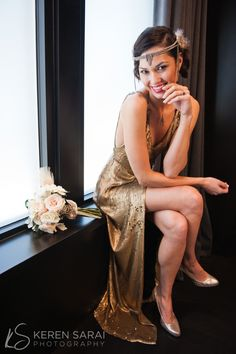 Diane Von Furstenberg gold sequin gown #gatsby party