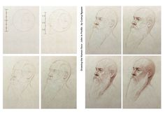 Drawing the human face - John in profile - By Cuong Nguyen