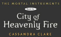 "Another new 'City of Heavenly Fire' snippet: ""A rune, hovering like an angel: a shape like two wings joined by a single bar."""