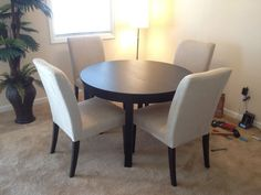 Ikea Bjursta Dining Table and 4 Henriksdal Chairs