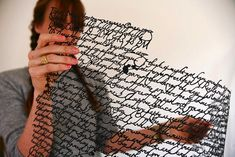 Delicately Cut Handwritten Letters by Annie Vought