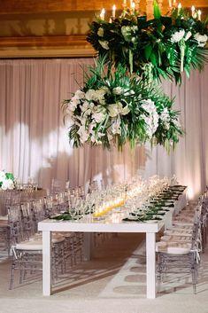 aboutdetailsdetails.com | Jana Williams Photography | Orange County Weddings | OC Wedding Designer | Pelican Hill Resort Events | Newport Coast Event | Tropical Details | Wedding Reception | Lush Green Leaves | White Orchid Centerpieces