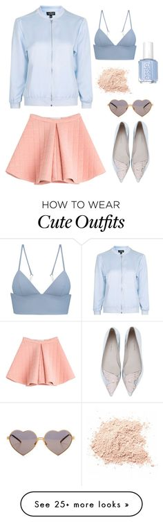 """""""Cute pastel outfit ♡"""" by anastasia-novopoltseva on Polyvore featuring T By Alexander Wang, Topshop, Sophia Webster, Essie, Wildfox and Marina Hoermanseder"""