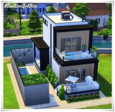 Casa Amadeirada Contêiner - The Sims 4 ( no cc ) The Sims 4 Houses, Sims 3 Houses Ideas, Sims 2 House, Sims 4 House Plans, Sims 4 House Building, Sims 4 House Design, Sims Ideas, Build House, House Ideas