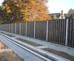 Timber Absorptive Noise Barrier - Acoustic Fencing
