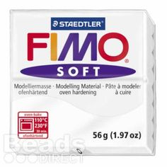 £1.64  Staedtler Fimo Soft Polymer Clay White 56g (1.97oz)