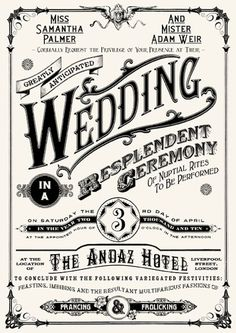 this wedding invitation! Looks like a circus poster from the and See more Nerdy Wedding Invitations on this page.Love this wedding invitation! Looks like a circus poster from the and See more Nerdy Wedding Invitations on this page. Wedding Invitations Examples, Invitation Examples, Wedding Invitation Inspiration, Vintage Wedding Invitations, Wedding Invitation Design, Wedding Stationary, Typography Invitation, Wedding Postcard, Postcard Invitation