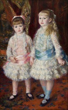 Pierre-Auguste Renoir foi um pintor francês impressionista. Sua obra foi influenciada pelo sensualismo e pela elegância do rococó, embora não faltasse um pouco da delicadeza de seu ofício anterior como decorador de porcelana.  Nascimento: 25 de fevereiro de 1841, Limoges Falecimento: 3 de dezembro de 1919, Cagnes-sur-Mer Cônjuge: Aline Charigot (desde 1890) Período: Impressionismo Obras: Luncheon of the Boating Party, Mais Filhos: Jean Renoir, Pierre Renoir, obra:  Pink and Blue, 1881