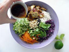 Thai Inspired Rice Noodle Salad - ohmygreen.net
