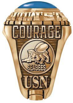 Create the perfect United States Seabees Ring in a few simple steps. Available in store in Gold and Silver