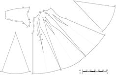 Very good diagram of a cotehardie construction.