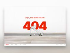 Airline 404 Page