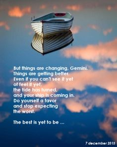 The best is yet to be ...