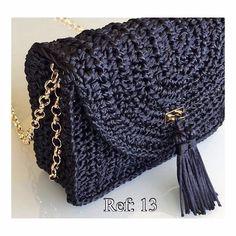 Image result for bolsa croche malha