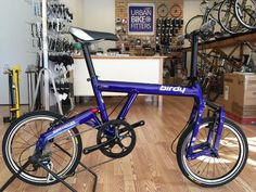 Birdy New Classic folding bike in Blue available at www.UrbanBikeFitters.com