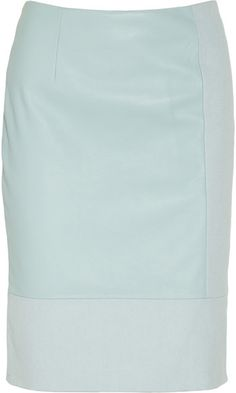 bd660ce071 TIBI Leather and Cotton Canvas Pencil Skirt - Lyst Leather Dresses, Leather  Skirt, Shirt