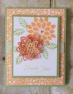 The weather outside has been absolutely gorgeous and so to celebrate I have a fun summery card idea for you to try, using the Flourishing Phrases stamp set. Click on the image below to order this set at my Online...