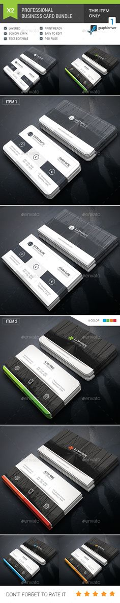 Business Card Template PSD Bundle. Download here: https://graphicriver.net/item/business-card-bundle/17236053?ref=ksioks