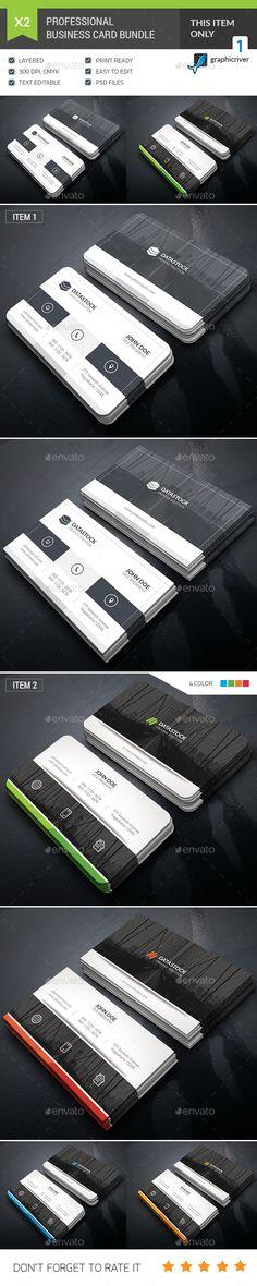 Business Card Template PSD Bundle. Download here: https://graphicriver.net/item/business-card-bundle/17236053?ref=ksioks