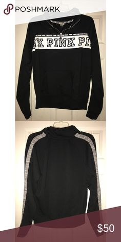 Black PINK Sweatshirt! Great condition! No stains, rips, etc. PINK Victoria's Secret Jackets & Coats