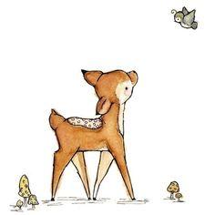 Children's Art -- A Little Bird Told Me -- Art Print auf Etsy, 7,50 €